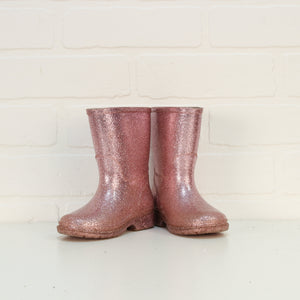 Pink Glitter Rain Boots (Little Kids Shoe Size 7)