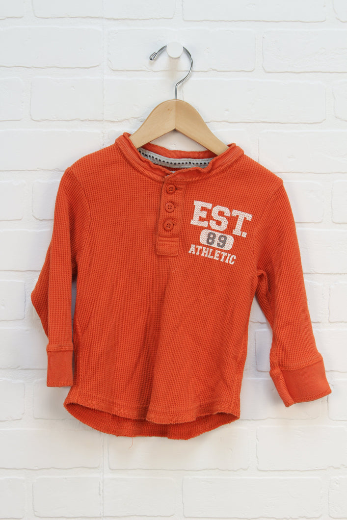 Orange Thermal Top (Size M/24M)