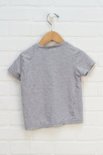 Benetton Organic Heathered Grey Graphic T-Shirt (Size XXS/3-4)