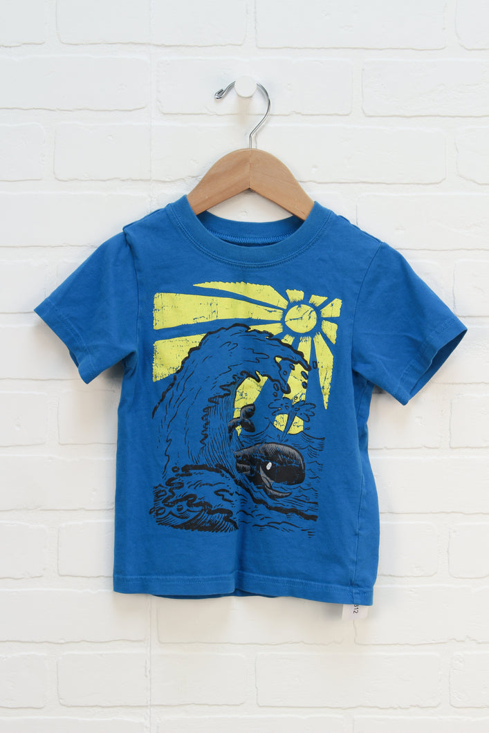 Blue Graphic T-Shirt: Whale (Size 3T)