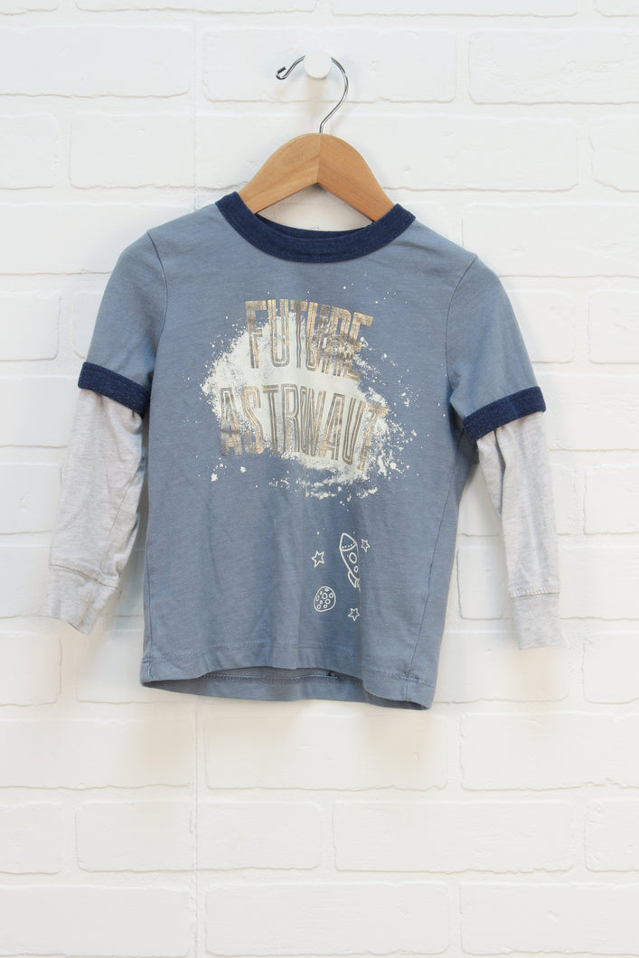 French Blue Graphic T-Shirt (Size 3T)