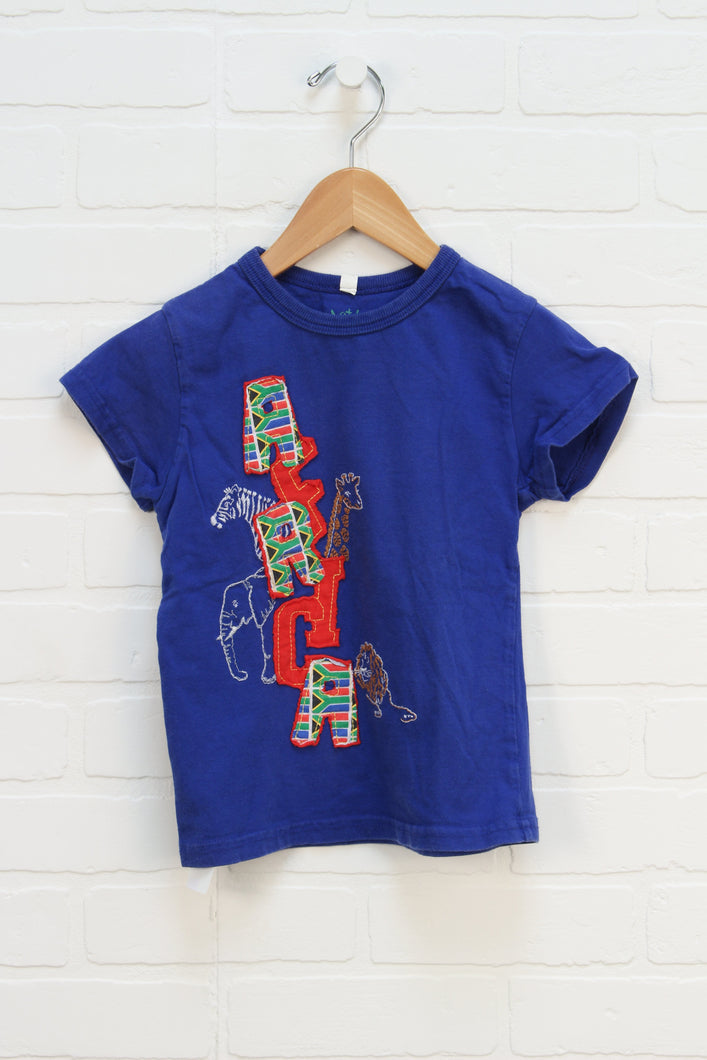 Indigo Graphic T-Shirt (Size 3-4)