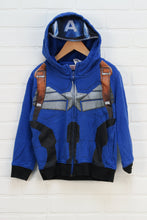 Blue Graphic Hoodie: Captain America (Size XS/Estimated Size 5)