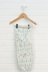 Cream Graphic Swaddle: Monkeys (Size 0-3M)