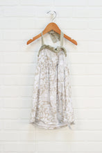 White + Tan Floral Sundress (Size 18-24M)