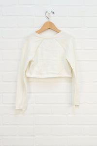Cream Cropped Cardigan (Size 6)