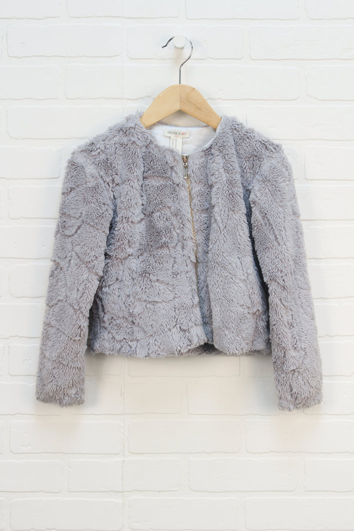 Grey Teddy Bear Sweater (Size 5/6)