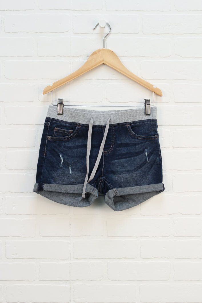 Distressed Wash Soft Waist Denim Shorts (Size 12)