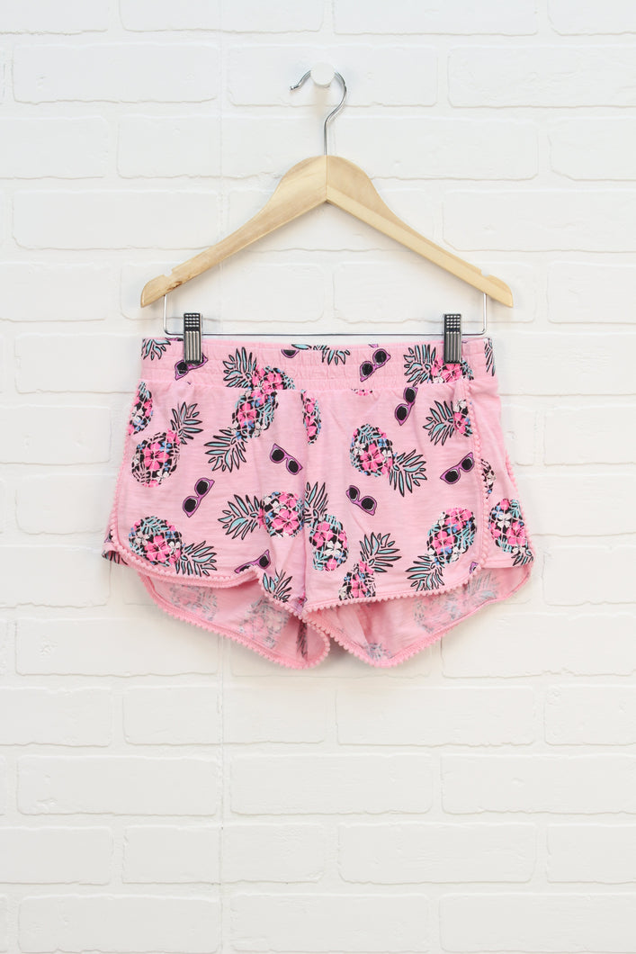 Pink Graphic Slubbed Shorts (Size 12)