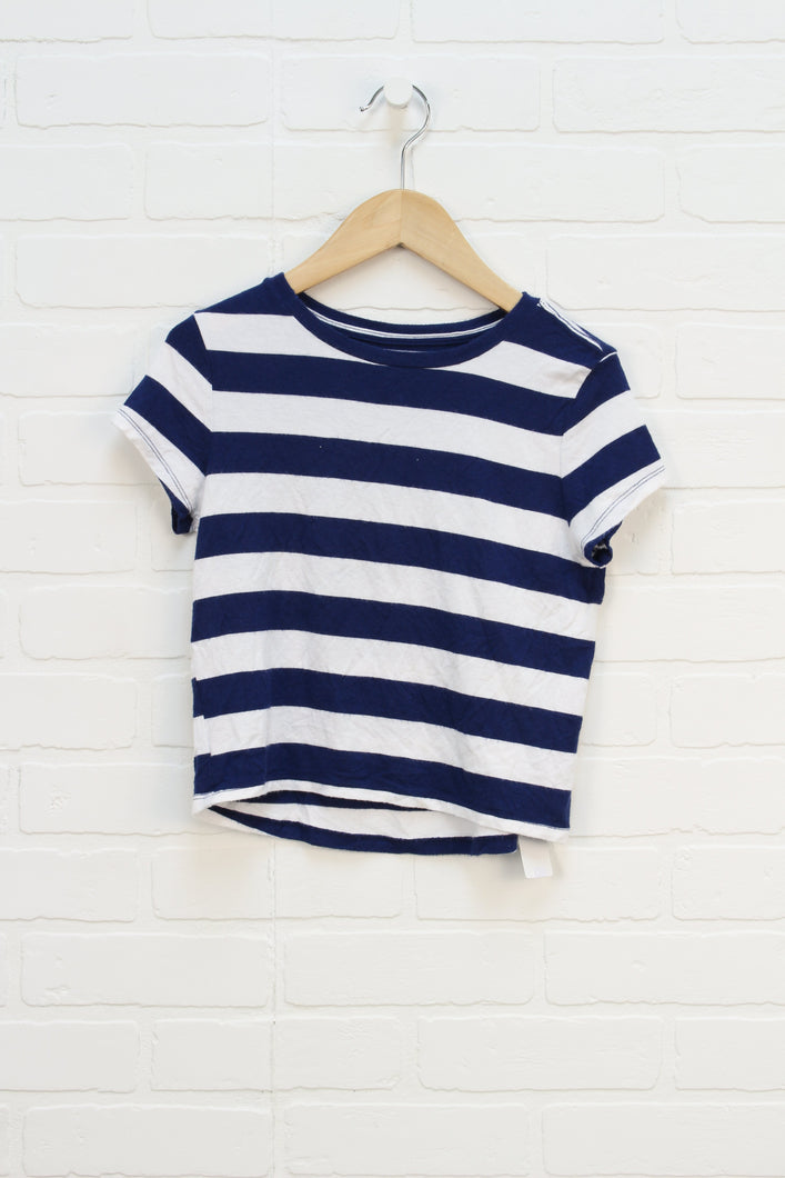 Blue + White Stripe T-Shirt (Size S/6-7)