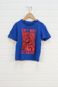 Blue + Red Graphic T-Shirt (Size 6)