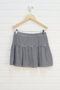 Black + White Striped Skirt (Size L/10-12)