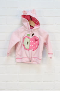 Pink Fleece Hoodie: Apple (Carter's Size 9M)