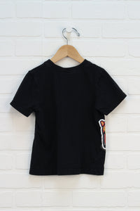 Black Graphic T-Shirt: Cars (Size 5)