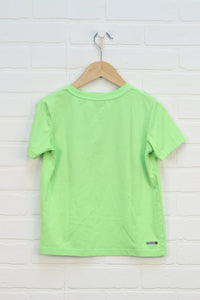 Fluorescent Green Graphic T-Shirt (Size S/6-7)