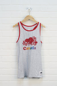 Heathered Grey + Crimson Logo Tank (Size XL/11-12)