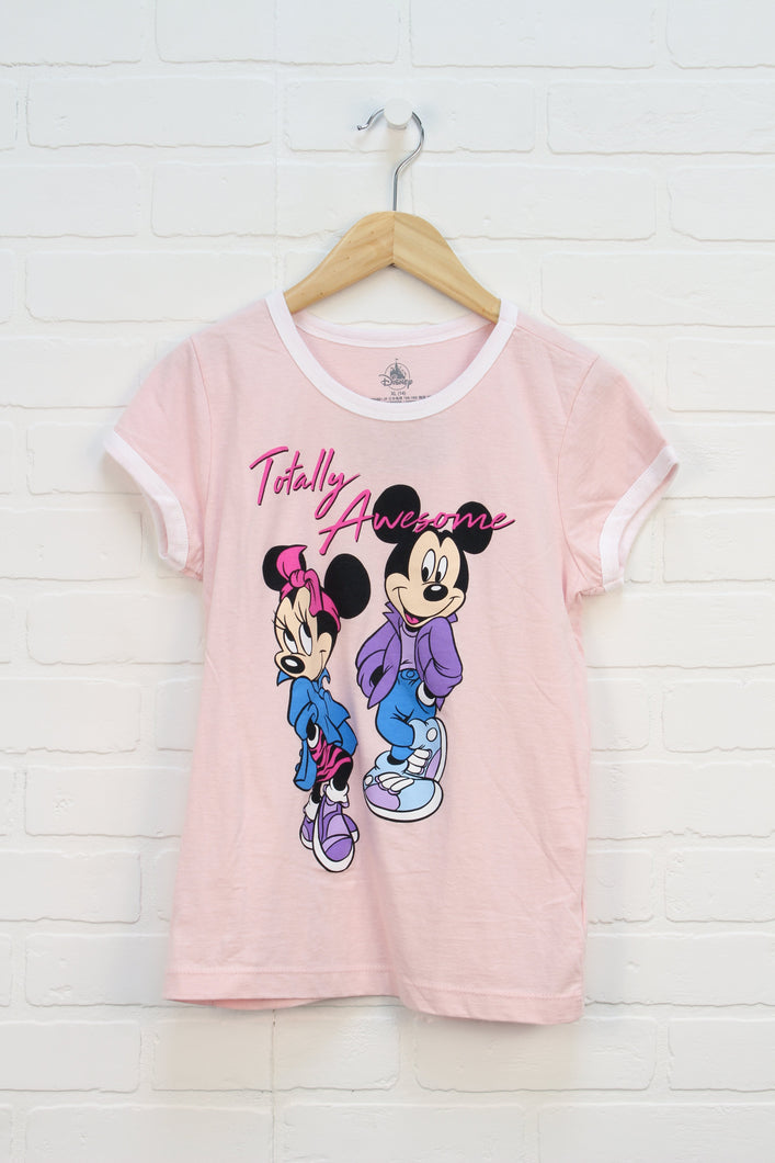 Blush Graphic T-Shirt: Mickey + Minnie (Size XL/14)