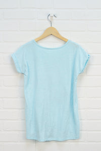 Heathered Turquoise Graphic Doleman (Size XL/14)
