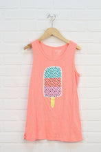 Fluorescent Orange Graphic Tank: Popsicle (Size L/10-12)