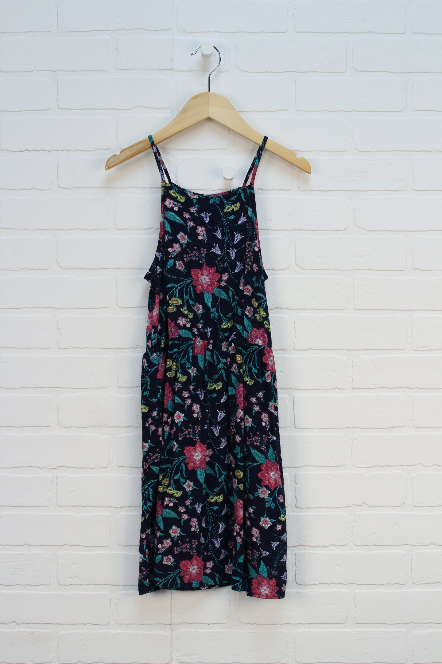 Navy Floral Sundress (Size L/10-12)