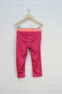 Raspberry + Orange Cropped Athletic Leggings (Size L/10)