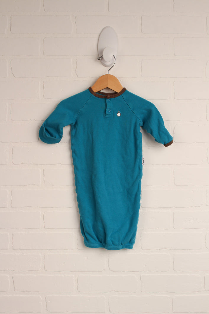 Turquoise Sleep Gown (Size 3-6M)