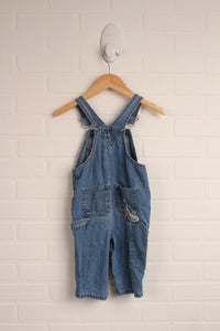 Embroidered Denim Overalls (Size 12-18M)