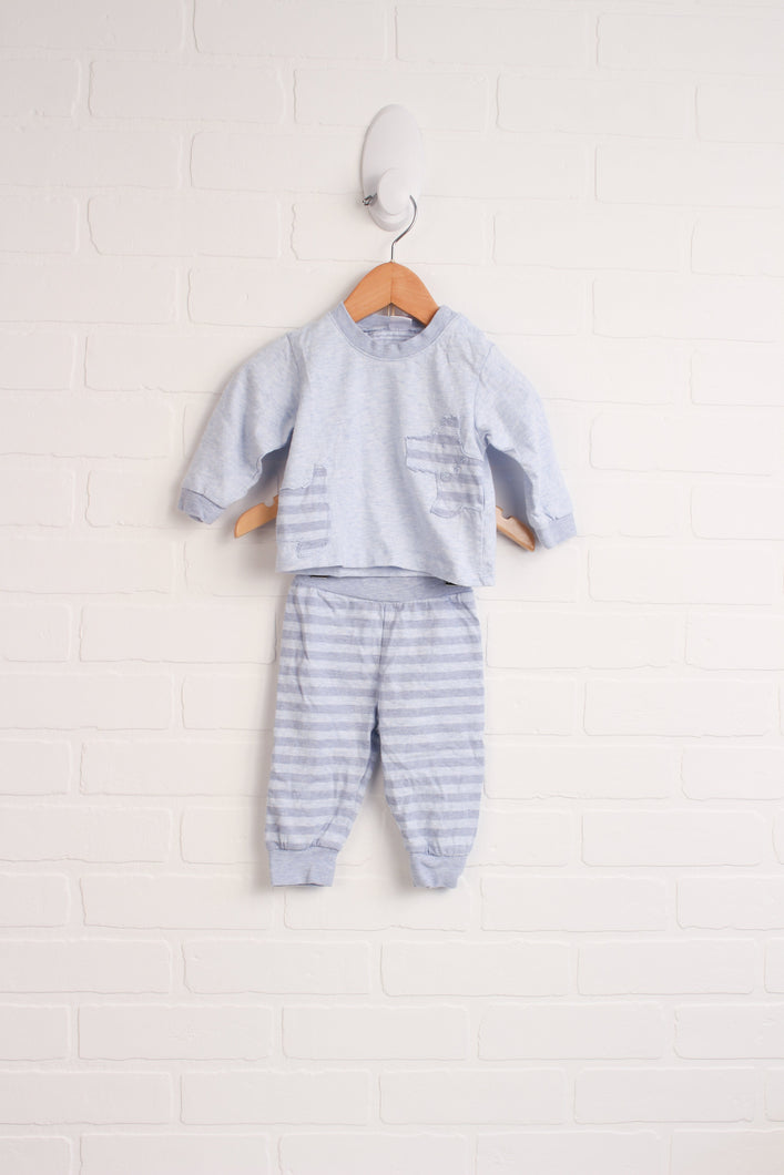 OUTFIT: Heathered Blue Set (Size 62/3M) 2 Pieces