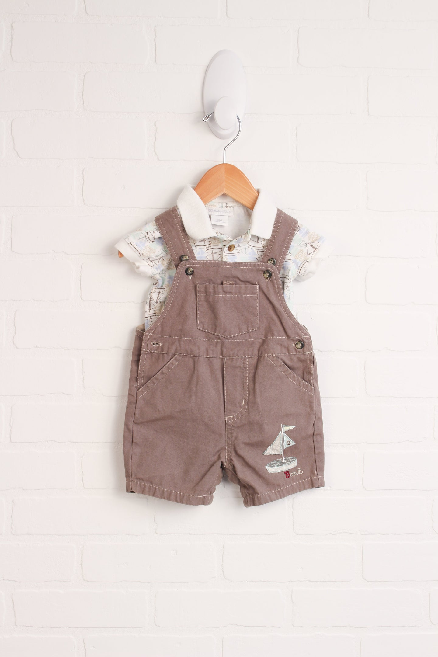 OUTFIT: Sail Boat Set (Size 6M) 2 Pieces