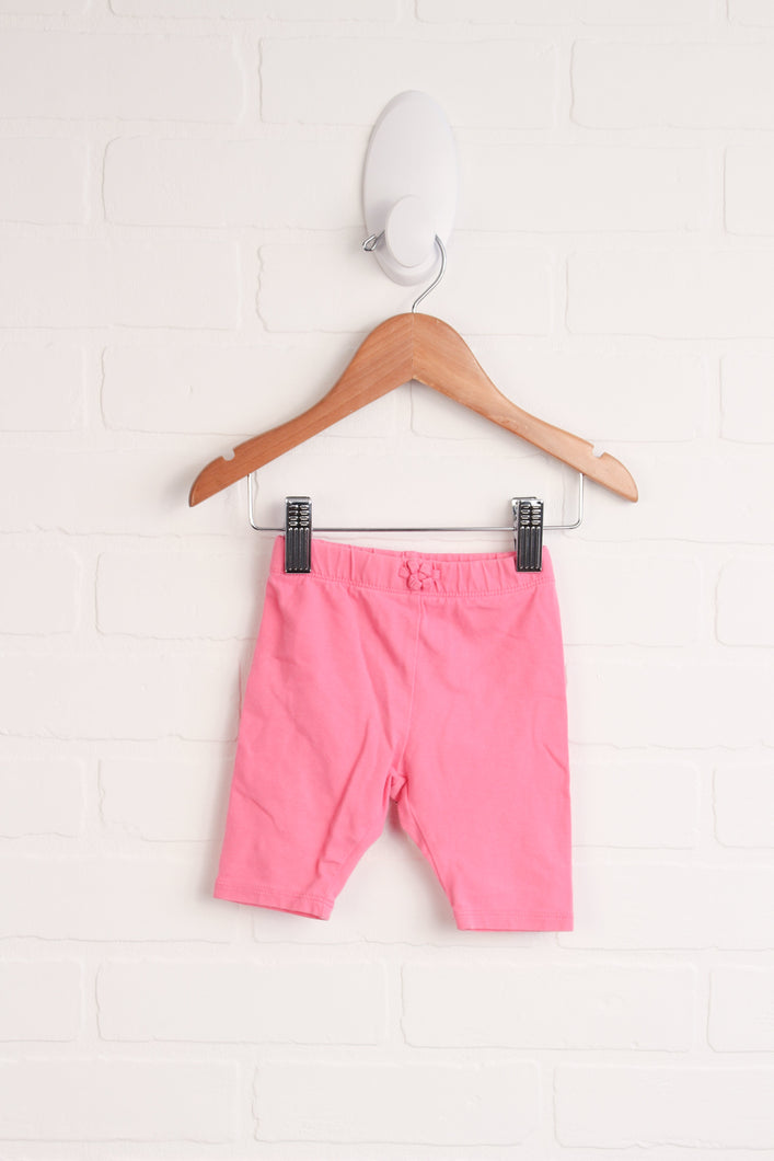 Hot Pink Cropped Leggings (Size 3-6M)