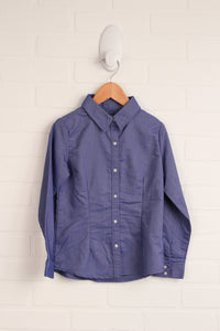 Classic Blue Button-Up (Size 6)