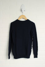 Benetton Graphic Wool-Blend Sweater (Size 8-9)