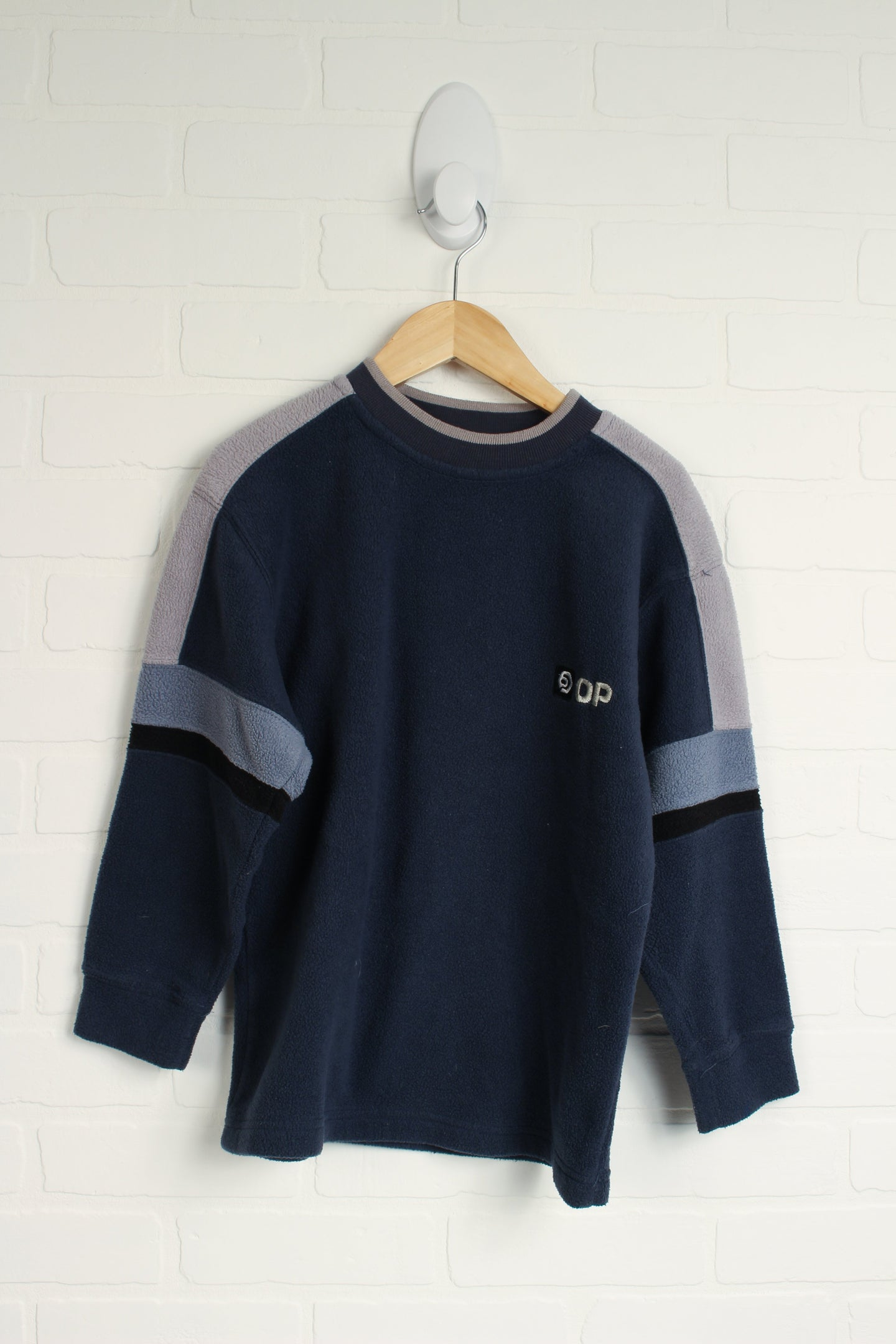 Navy + Grey Fleece Sweatshirt (Size S/7-8)