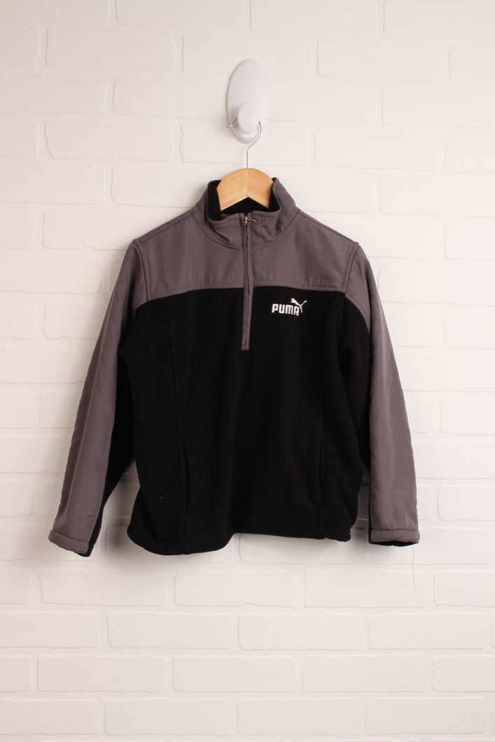 Black + Grey Fleece Jacket (Size 7)