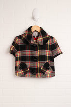Cropped Plaid Wool-Blend Jacket (Women's Size XS)