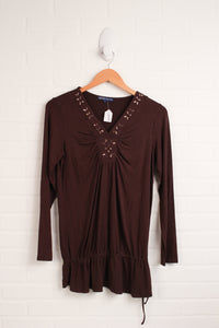 Brown Maternity Tunic (Maternity Size L)