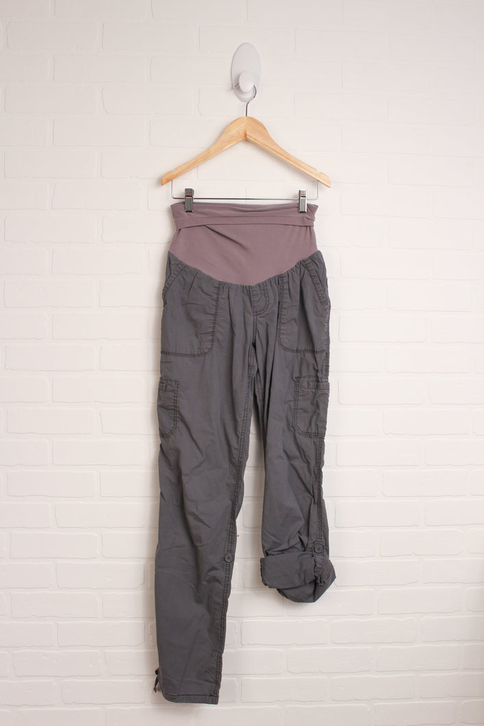 Grey Pants With Roll Hem (Maternity Size S)
