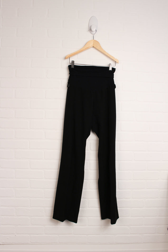 Black Comfort-Fit Pants (Maternity Size S)