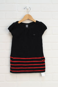 Black + Red Sweater Dress (Size 18-24M)