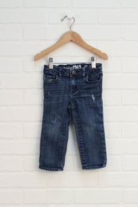 Distressed Wash Skinny Jeans (Size 18-24M)