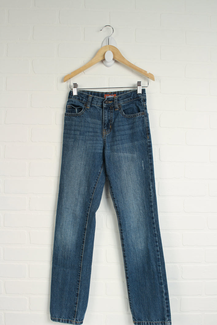 Distressed Wash Jeans (Size 12 Slim)