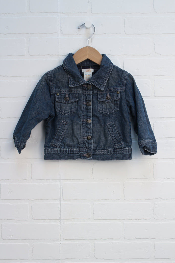 Vintage Wash Denim Jacket (Size 12-18M)