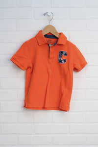 Orange Graphic Polo (Size 4)