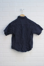 Navy Checked Button-Down (Size XS/5)