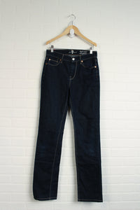 "7 For All Mankind ""High Waist Straight Leg"" Jeans (Women's Size 26/6)"