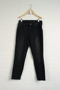 Black French Terry Jeans (Women's Size 6)