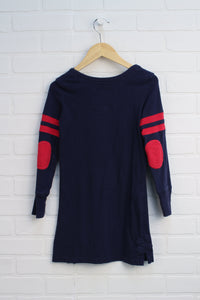 Navy + Red Dress (Size S/6-7)