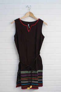 Brown + Multi Dress (Size M/14)