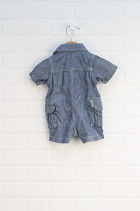 Denim Romper (Size 0-3M)