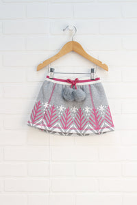 Grey + Magenta Winter Skirt (Size 3)